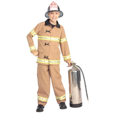 Young Heroes Fire Fighter Fireman Kids Costume