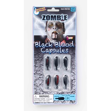 Zombie Black Blood Caps