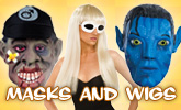 Masks and Wigs On Sale