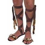 Adult Stone Age Brown Sandals for Mens Costume