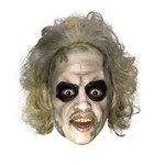 Beetlejuice Halloween Mask - Vinyl Hair