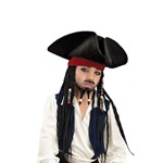 Child Deluxe Pirate Hat - Beaded Braids