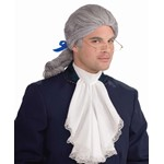 Deluxe Mens White Colonial Wig
