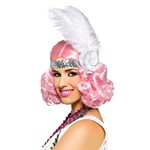 Icy Pink Flapper Wig - Womens