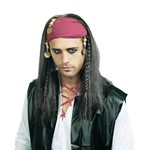 Men's Brown Pirate Wig