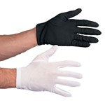 Polyester Gloves Black/White Costume Accessory