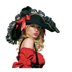 Swashbuckler Hat for Halloween Costume for Women