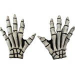 White Bones Skeleton Gloves Costume Accessory