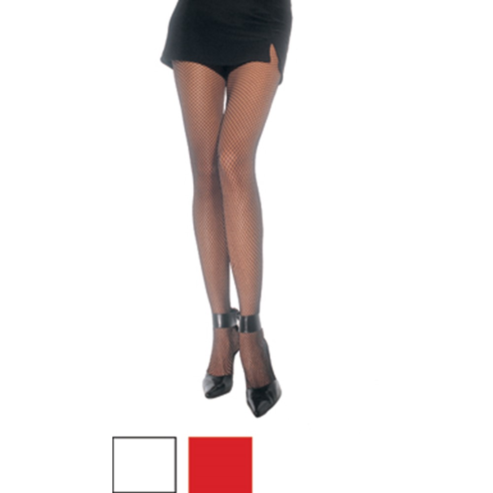 Every woman needs a pair of pantyhose! The Plus Size Fishnet Pantyhose add an extra oomph to any costume. These fishnet pantyhose come in red, white and black, and barely reveal any skin, so you can look classy, yet sexier than ever before. Dress up a French maid costume or any other costume you desire. These Plus Size Fishnet Pantyhose are a great accessory for every woman to wear. You are sure to make a bold statement when you pass by in this alluring costume accessory!