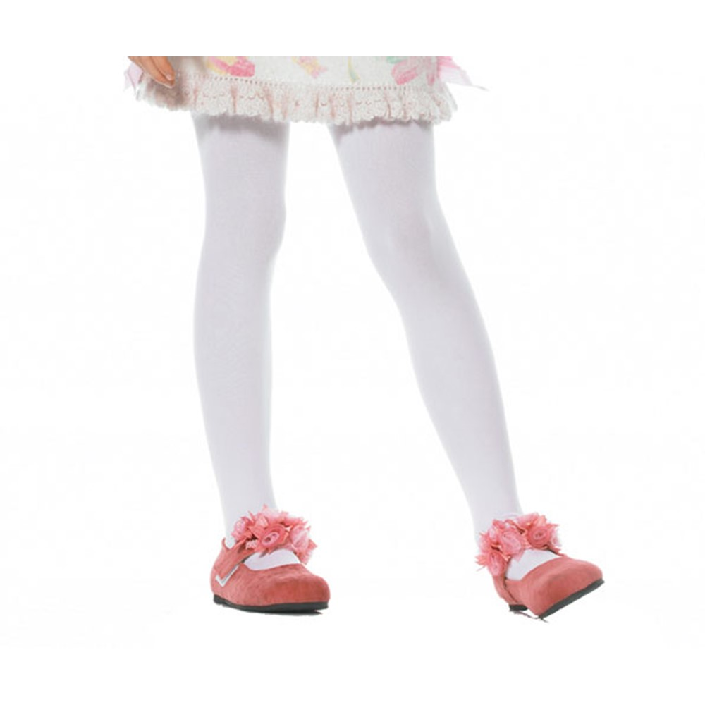 Every girl needs a pair of stockings! The Opaque Stockings for Child Costumes are an adorable touch to any costume. These are White Stockings that barely reveal any skin, so you can look cute and stay classy. The opaque stockings can be used as a fun, added accessory to any costume you desire. The Opaque Stockings for Child Costumes come in an array of colors; like red, white, black, yellow and pink. These White Stockings are sure to make a bold statement when you walk by!