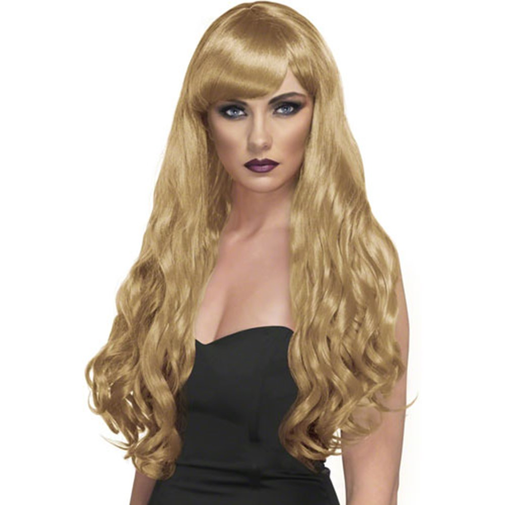 When you want to show off that sexy side of you, you can't go wrong with this superstar wig! Why just have any old wig when you can get one that evokes the imagery of flowers in bloom? With our Womens Blonde Desire Wig, your costume is guaranteed to come out right!It's true that blondes have more fun, and when you put on this sexy wig, you'll bring that blonde ambition to bear on your Halloween gatherings, turning heads all along the way! Pick up our Womens Blonde Desire Wig and complete your costume right! To get your wig to fit perfectly, you can't go wrong with a Wig Cap!