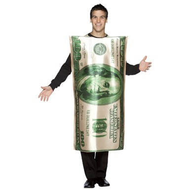 $100 Bill Adult 100 Dollar Halloween Costume