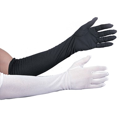 "21"" Black Polyester Gloves Costume Accessory"