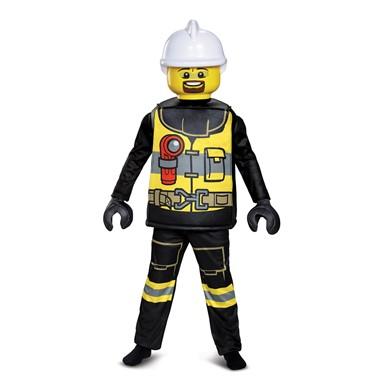Kids LEGO Firefighter Deluxe Halloween Costume – LEGO Costumes