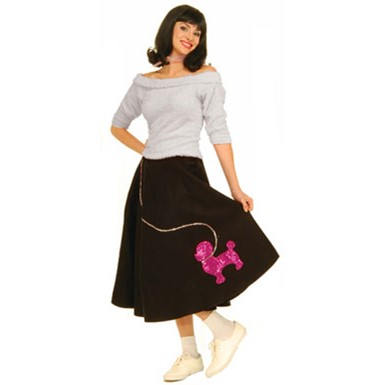 50's Costume for Women - White Sock Hop Top