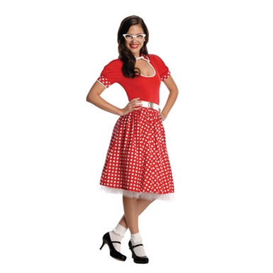 50's Nerdy Girl Costume - Womens