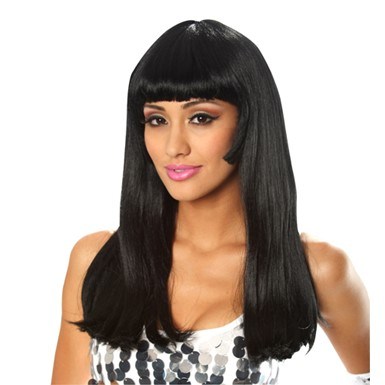 60's Babe Black Costume Wig