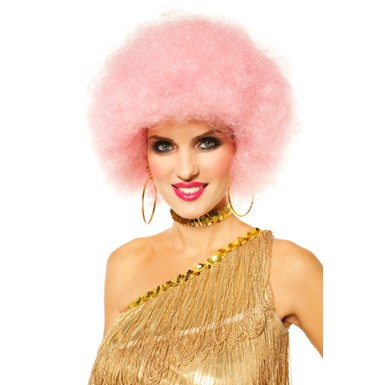 70's Afro Icy Pink Wig - Womens