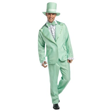 70s Funky Green Tuxedo Mens Halloween Costume
