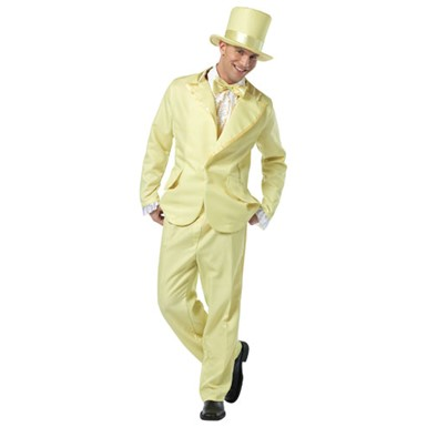70s Funky Yellow Tuxedo Mens Halloween Costume