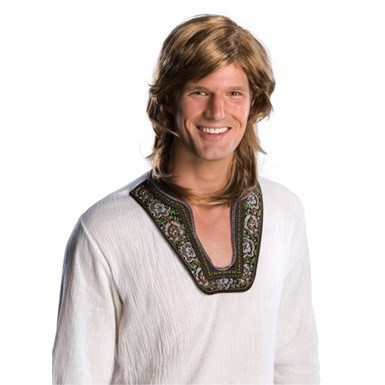 70's Guy Brown Costume Wig for Halloween Costume