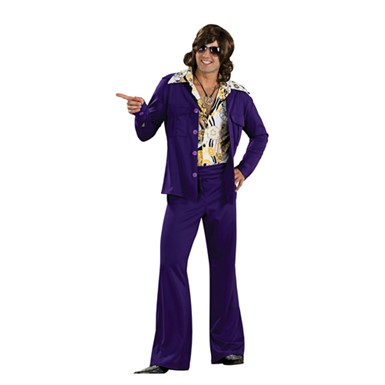 70's Purple Leisure Suit Adult Mens Costume