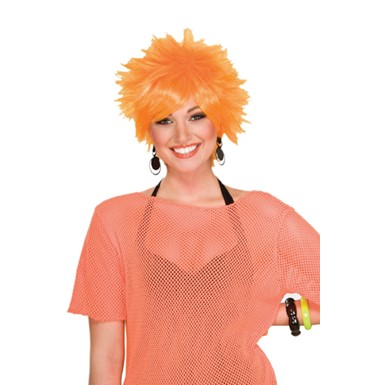 80's Pixie Wig - Orange