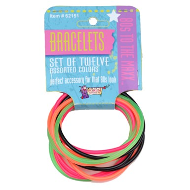 80's Twelve Piece Bracelet Costume Accessory Set