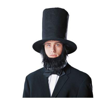 Abe Linclon Hat - with Beard