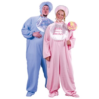 Adult Baby Halloween Costume - Big & Tall Blue