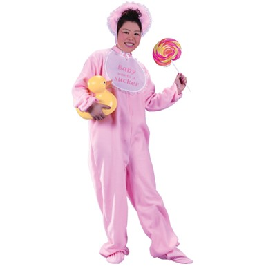 Adult Baby Halloween Costume - Pink