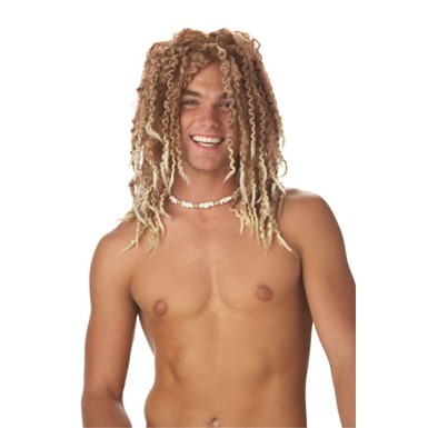 Adult Beach Bum Light Brown Wig for Halloween Costume