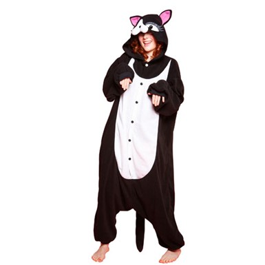 Adult Black Cat Halloween Costume size Standard