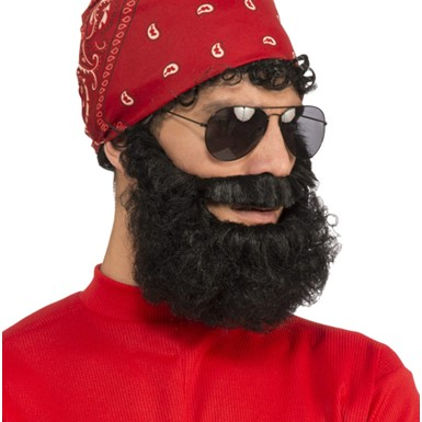 Adult Black Lumberjack Beard Costume Accessory