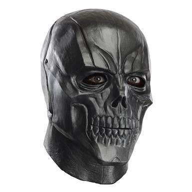 Adult Black Mask Deluxe Overhead Latex Halloween Mask