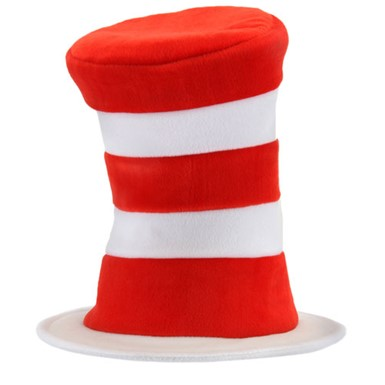 Adult Cat In The Hat Deluxe Cap Costume Accessory