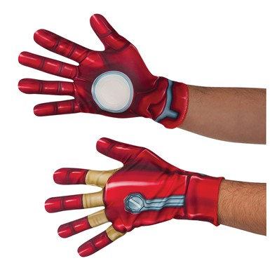 Adult Civil War Iron Man Halloween Gloves
