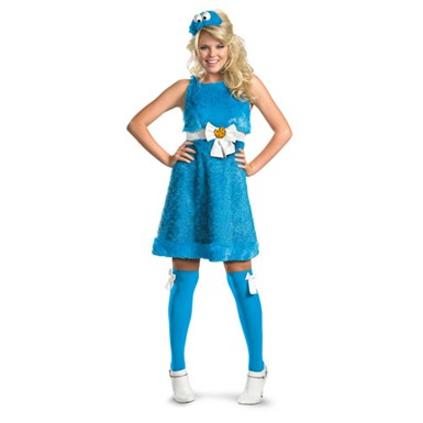 Adult Cookie Monster Costume - Womens