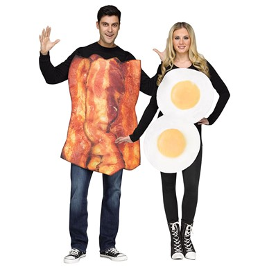 adult couples bacon eggs halloween costume - Halloween Food Costume