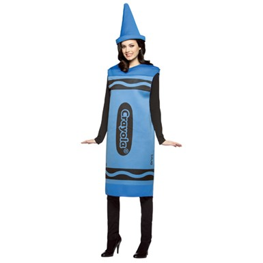 Adult Crayola Costume - Blue Crayon