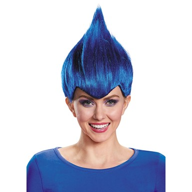 Adult Dark Blue Wacky Troll Costume Wig