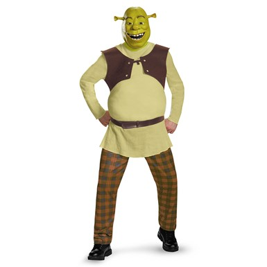 Adult Deluxe Shrek Costume - Mens