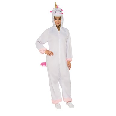 Adult Despicable Me 3 Fluffy Unicorn Onesie Costume
