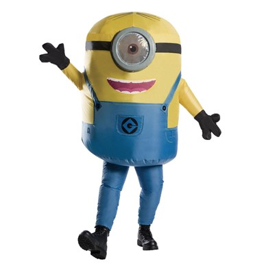 Adult Despicable Me Inflatable Minion Stuart Costume