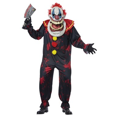 Adult Die Laughing Clown Big Mouth Halloween Costume
