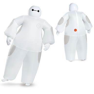 Adult Disney Big Hero 6 Inflatable White Baymax Costume