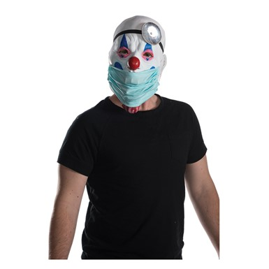 Adult Dr. Skitzo Clown Mask with Removable Mouth Guard