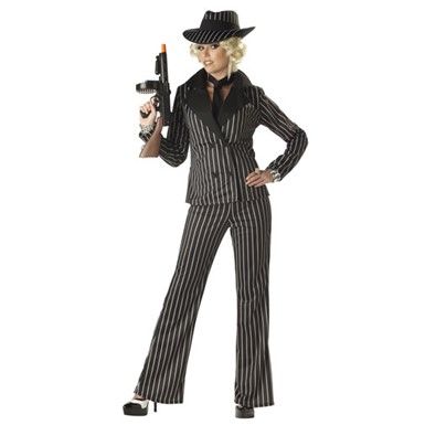 Adult Gangster Costume - Womens