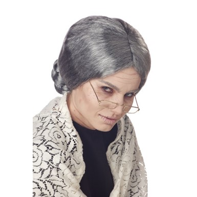 Adult Grandma Grey Wig for Halloween Costume