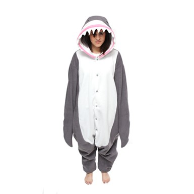 Adult Great White Shark Mascot Costume